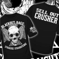 画像1: BLACKOUT RAGE - Sell Out Crusher Tシャツ