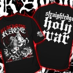 画像1: BLACKOUT RAGE - Straightedge Holy War Tシャツ