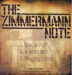 画像1: THE ZIMMERMANN NOTE - Demo 2005